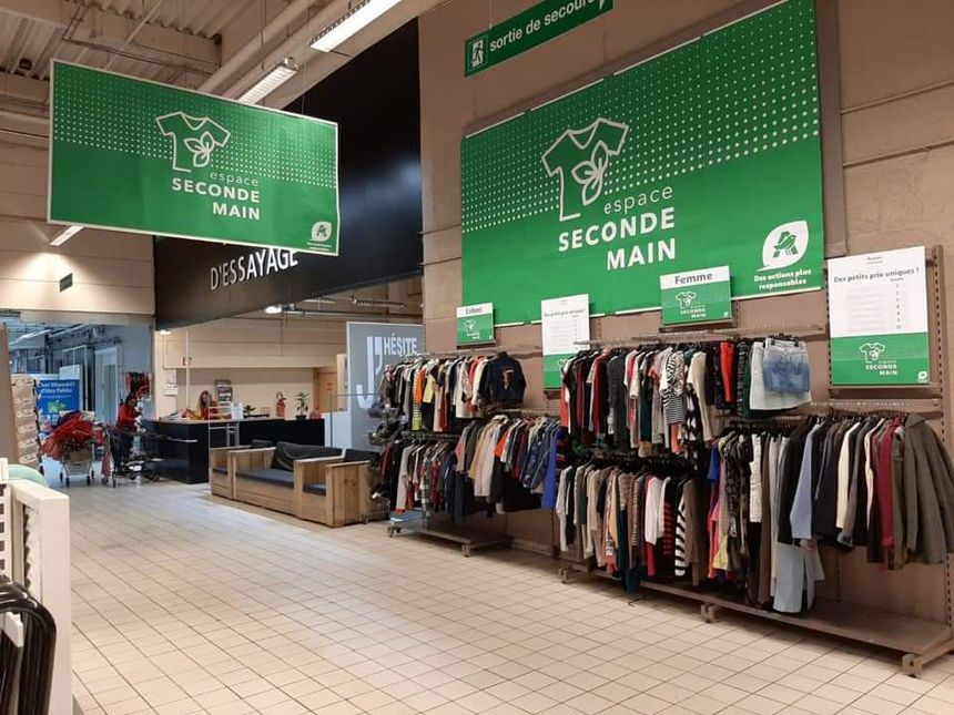 Corner seconde main Auchan