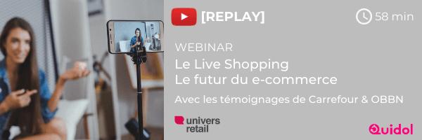 Replay webinar Live Shopping